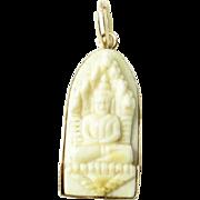 Vintage 18K Yellow Gold Buddha Pendant