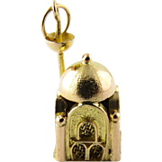 Vintage 14K Yellow Gold Mosque Charm
