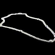 Vintage 14K White Gold Diamond By Yard Necklace