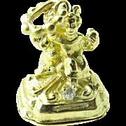 Antique 18 Karat Yellow Gold and Diamond Watch Fob Pendant
