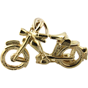 Vintage 14K Yellow Gold Bicycle Charm