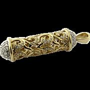 Vintage 14 Karat Yellow Gold and Diamond Pendant