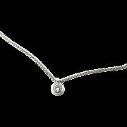Vintage 14 Karat White Gold Diamond Necklace