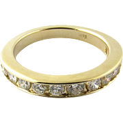 Vintage 14 Karat Yellow Gold Diamond Wedding Band Size 4.5