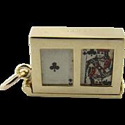 Vintage 14 Karat Yellow Gold Playing Cards Charm
