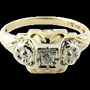 Vintage 14 Karat Yellow Gold Diamond Ring Size 6