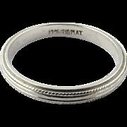 Vintage Platinum Wedding Band, Ring size 6 1/4