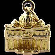Vintage 18 Karat Yellow Gold St. Peter's Basilica Charm
