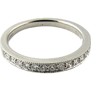 Vintage Platinum Diamond Wedding Band, Ring size 7