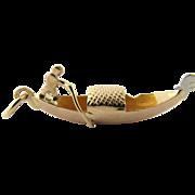 Vintage 14 Karat Yellow Gold Gondola Charm