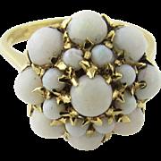 Vintage 18 Karat Yellow Gold Opal Ring, Size 7