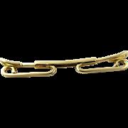 14K Yellow Gold Men's Tie Collar Bar Clip
