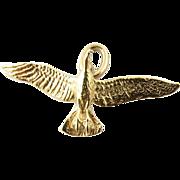 Vintage 14K Gold Flying Bird Pendant/Charm