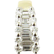 Vintage 18 Karat Yellow Gold Diamond Pendant .75 ct.