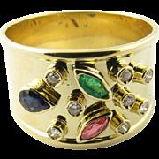 Vintage 14 Karat Yellow Gold Gemstone Ring Size 7