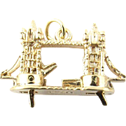 Vintage 9 Karat Yellow Gold London Bridge Charm