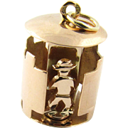 Vintage 14 Karat Yellow Gold Revolving Guard in Tower Charm