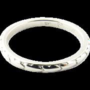 Vintage Platinum Wedding Band Size 6.75