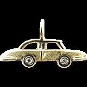 Vintage 14 Karat Yellow Gold and Diamond Car Charm