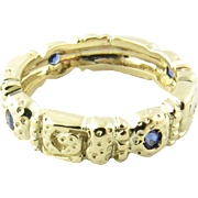 Vintage 14 Karat Yellow Gold and Sapphire Ring Size 6.75