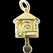 Vintage 10 Karat Yellow Gold Cuckoo Clock Charm