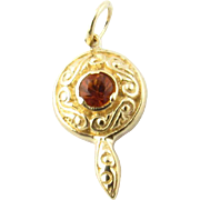 Vintage 14 Karat Yellow Gold and Ruby Charm