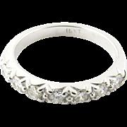 Vintage 14 Karat White Gold Diamond Wedding Band .35 ct. twt. Size 5.75