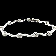 Vintage 14 Karat White Gold Diamond Bracelet