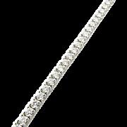 Vintage 14 Karat White Gold Diamond Tennis Bracelet 4.00 TCW