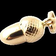 Vintage 18 Karat Yellow Gold Acorn Charm