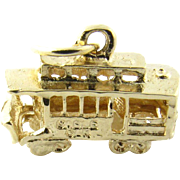 Vintage 14 Karat Yellow Gold Cable Car Charm
