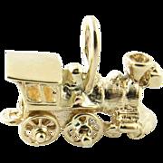 Vintage 14 Karat Yellow Gold Steam Engine Charm