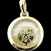 Vintage 14 Karat Yellow Gold Sand Dollar Charm/Pendant