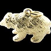 Vintage 14 Karat Yellow Gold Grizzly Bear Charm