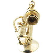 Vintage 14 Karat Yellow Gold Old-Fashioned Telephone Charm