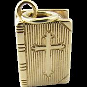 Vintage 14 Karat Yellow Gold Bible Charm/Pendant