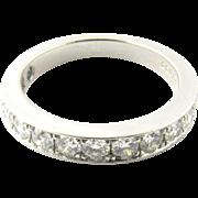Vintage Platinum Diamond Wedding Band Size 5.25
