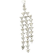 Vintage 18 Karat White Gold Diamond Pendant