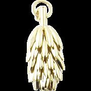 Vintage 14 Karat Yellow Gold Banana Bunch Charm