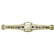Vintage 14 Karat White/Yellow Gold and Opal Pin/Brooch