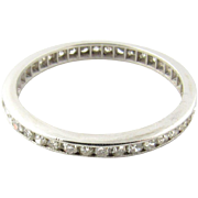 Vintage Platinum Diamond Eternity Band Size 6.75