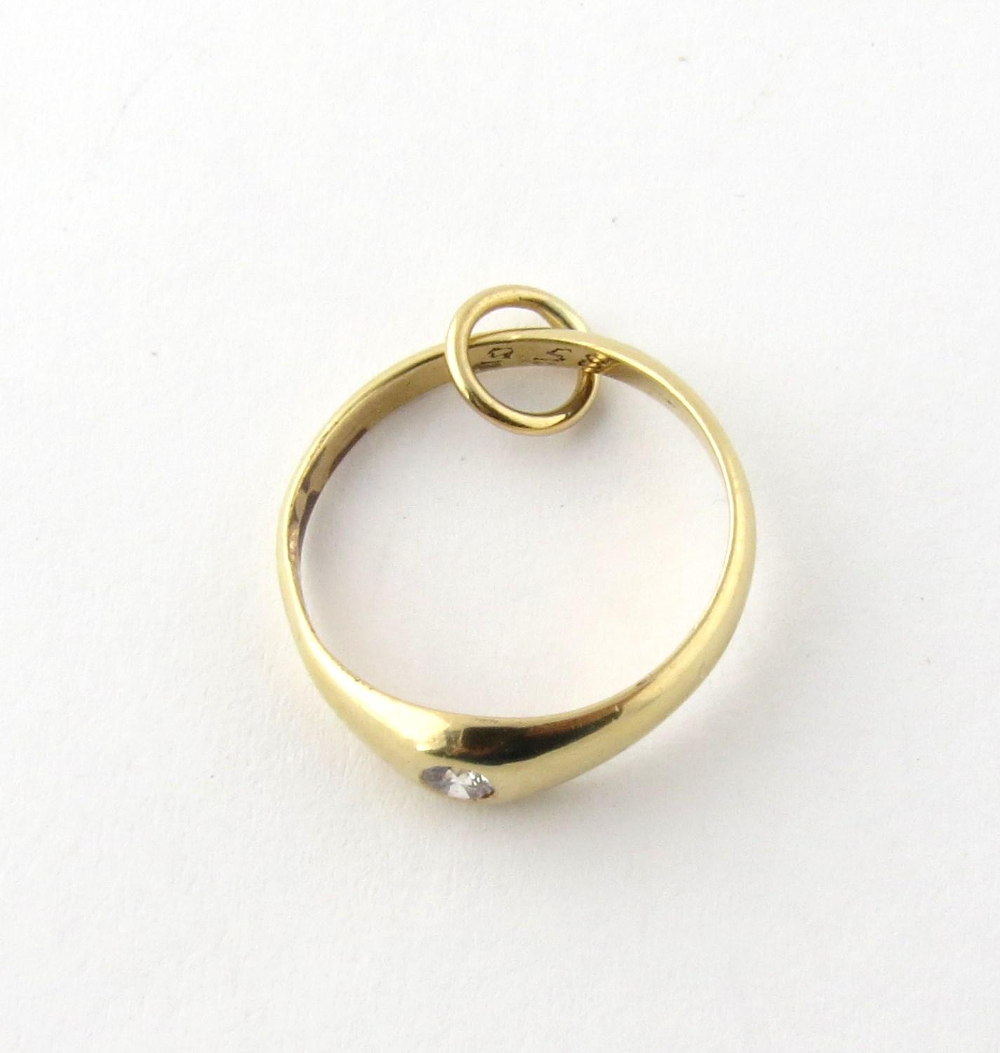 Tiffany & Co 14K Yellow Gold and Diamond Engagement Ring Charm