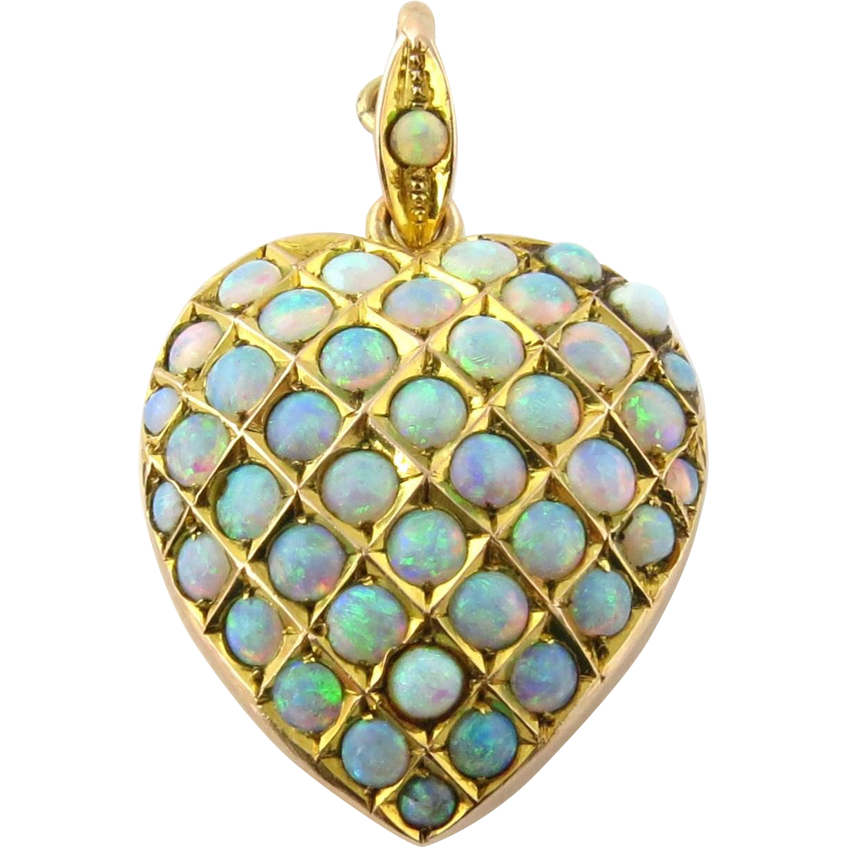 Antique victorian 10k yellow gold and pave opal heart pendant antique victorian 10k yellow gold and pave opal heart pendant locket gold and silver brokers ruby lane aloadofball Choice Image