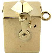 Vintage 14K Yellow Gold Spring Loaded Jack-in-the-Box Charm
