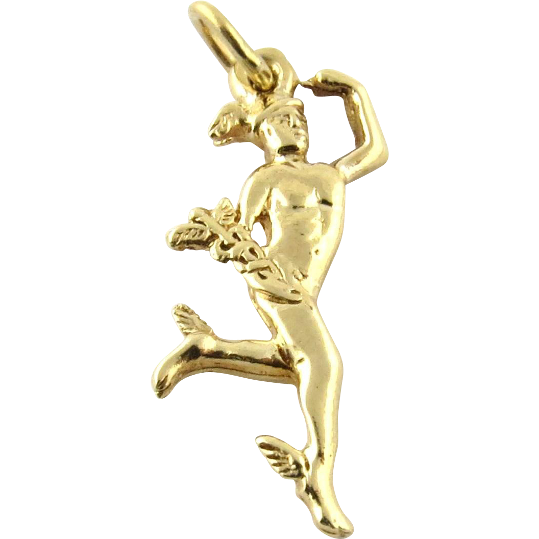 Uncategorized Hermes God vintage 14k yellow gold greek god hermes charm from charm