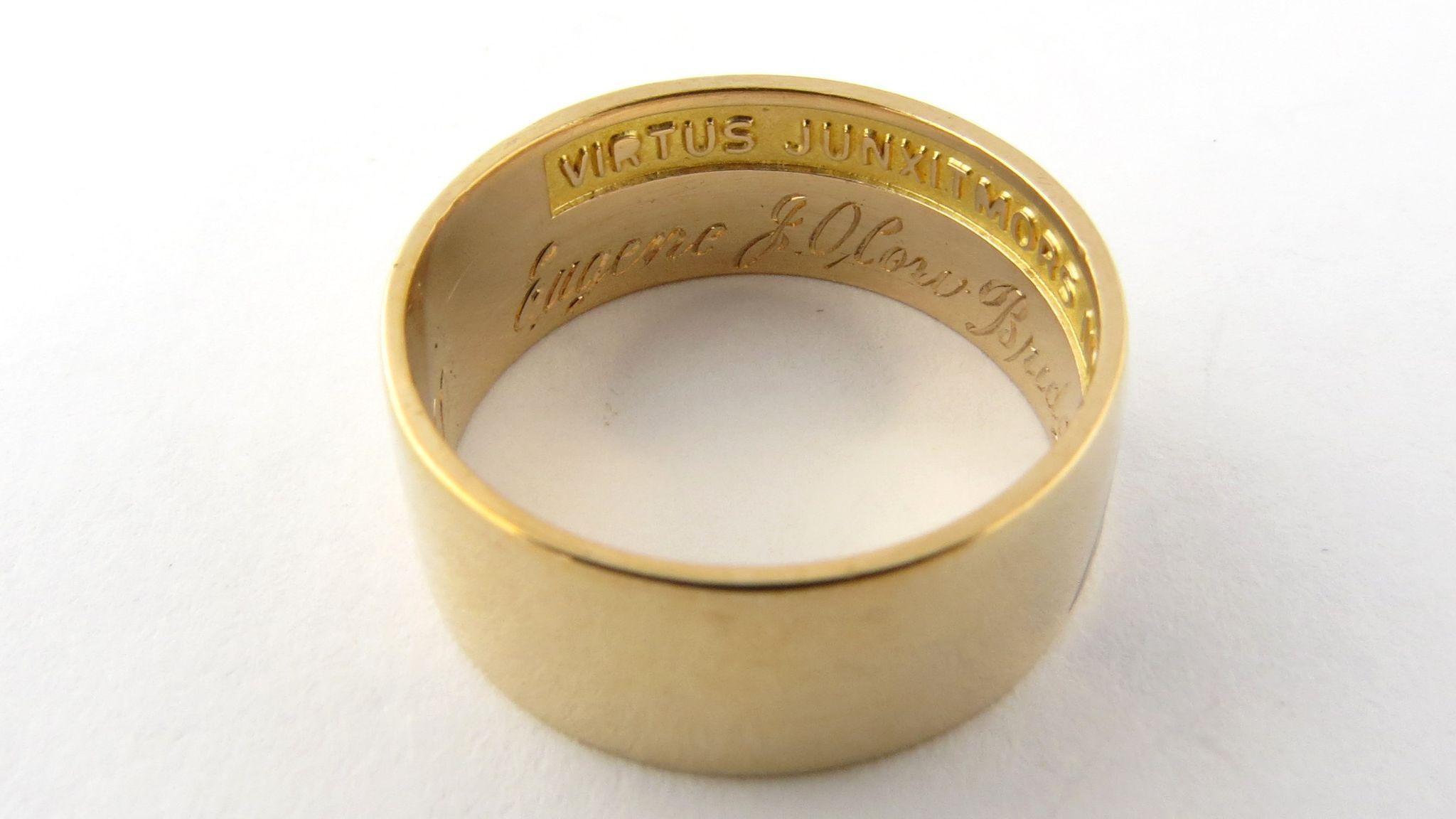 Vintage 10k Yellow Gold 14th Degree Scottish Rite Masonic