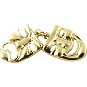 Vintage 14K Yellow Gold Drama Masks Charm