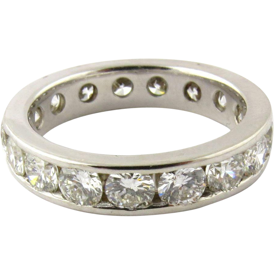 Vintage Diamond Eternity Band 19