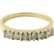 Vintage 14K Yellow Gold and Diamond Band Size 7