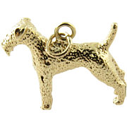 Vintage 14K Yellow Gold Schnauzer Dog Charm